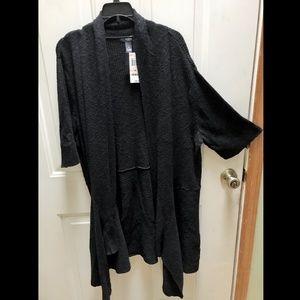Alfani Short Sleeved Black Cardigan 2X